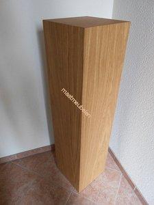 eiken sokkel  / Zuilen met echt hout fineer / diverse houtsoorten.