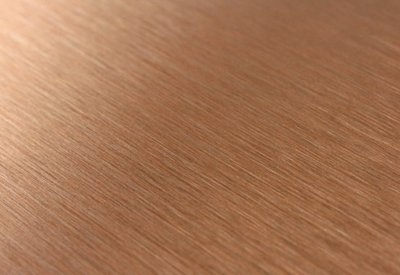 Koperplaat koperlook HPL - Brushed copper (geborsteld Aluminium)