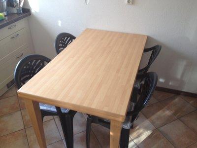 Tafelblad voorzien van Formica HPL of fineer: tafelbladrenovatie
